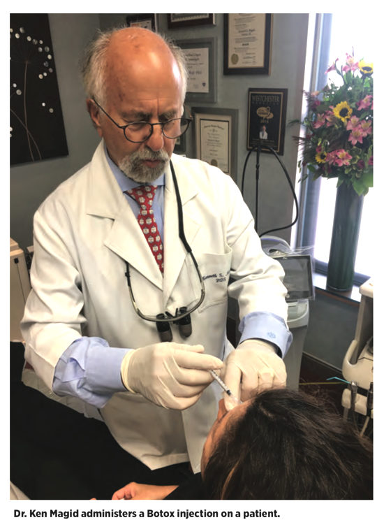 Dr. Kenneth Magid DDS Administers a Botox Injection