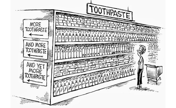 Toothpaste Aisle Graphic